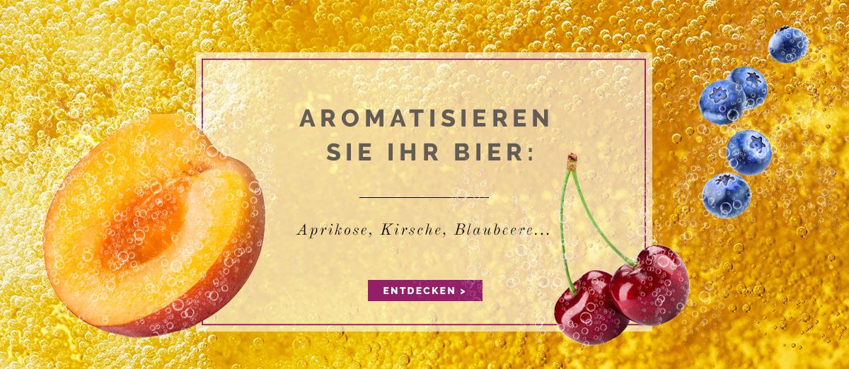 Aromatisieren Sie Ihr Bier: Aprikose, Kirsche, Blaubeere... Néroliane