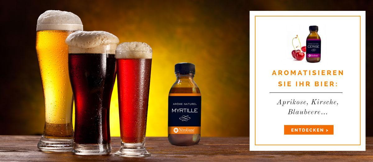 Néroliane Aromatisieren Sie Ihr Bier: Aprikose, Kirsche, Blaubeere